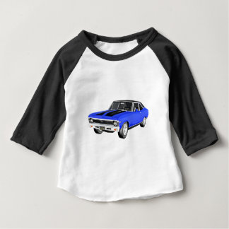 1968 Blue Muscle Car Baby T-Shirt