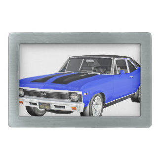 1968 Blue Muscle Car Belt Buckles