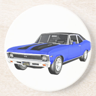1968 Blue Muscle Car Coaster