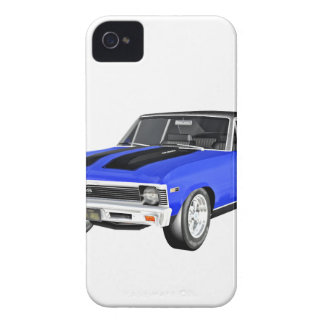 1968 Blue Muscle Car iPhone 4 Cases