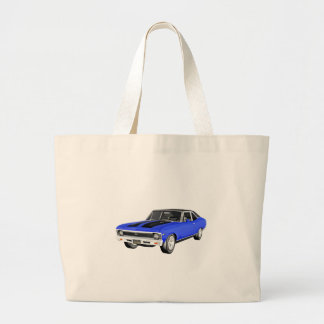 1968 Blue Muscle Car Large Tote Bag