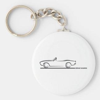 1968 Camaro Convertible BLK Basic Round Button Key Ring