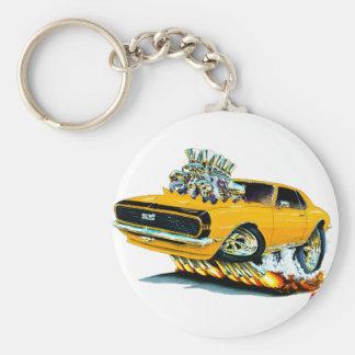1968 Camaro Orange-Black Car Key Ring