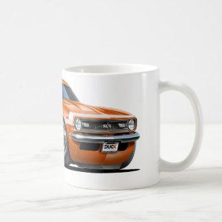 1968 Camaro Orange-White Car Basic White Mug