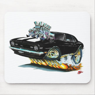 1968 Camaro SS Black-White Car Mouse Pad