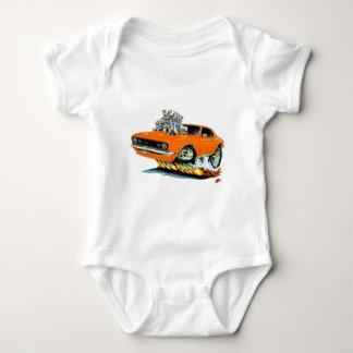 1968 Camaro SS Orange Car Baby Bodysuit