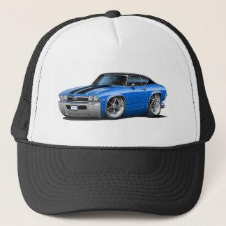 1968 Chevelle Blue-Black Stripes Trucker Hat
