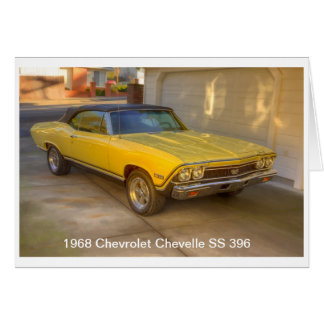1968 CHEVROLET CHEVELLE SS 396 CARD