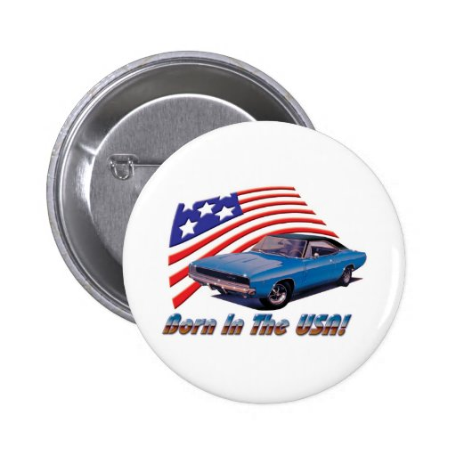 """1968 Dodge Charger """"Born in the USA"""" Pins"""