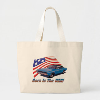 "1968 Dodge Charger ""Born in the USA"" Jumbo Tote Bag"