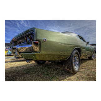 1968 Dodge Charger in HDR Poster