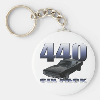 1968 dodge charger rt 440 six pack basic round button key ring