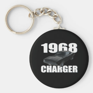 1968 dodge charger rt basic round button key ring