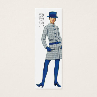 1968 Fashion Bookmark Mini Business Card