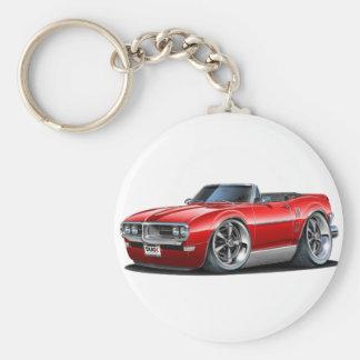 1968 Firebird Red Convertible Key Ring