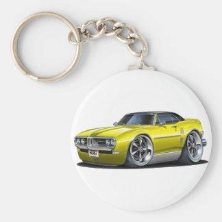 1968 Firebird Yellow-Black Car Key Ring