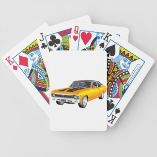 1968 Gold Muscle Car Bicycle Playing Cards