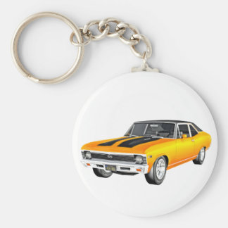 1968 Gold Muscle Car Key Ring