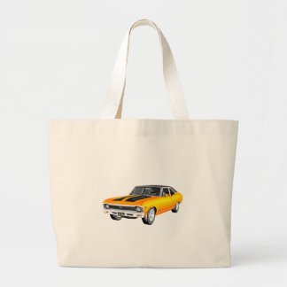 1968 Gold Muscle Car Large Tote Bag