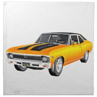 1968 Gold Muscle Car Napkin