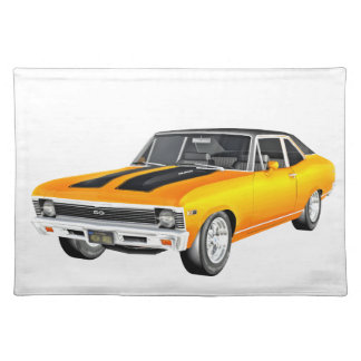 1968 Gold Muscle Car Placemat