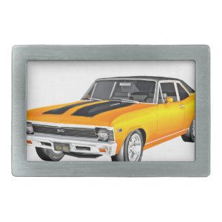 1968 Gold Muscle Car Rectangular Belt Buckle