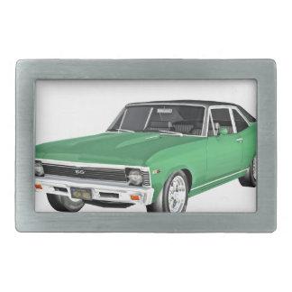 1968 Green Muscle Car Belt Buckle