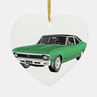 1968 Green Muscle Car Ceramic Ornament