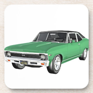 1968 Green Muscle Car Coaster