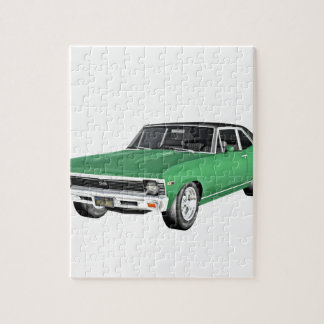 1968 Green Muscle Car Jigsaw Puzzle