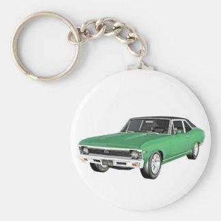 1968 Green Muscle Car Key Ring