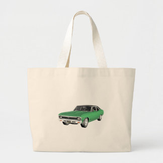 1968 Green Muscle Car Large Tote Bag
