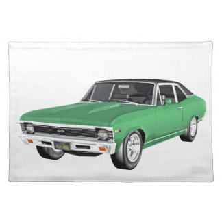 1968 Green Muscle Car Placemat