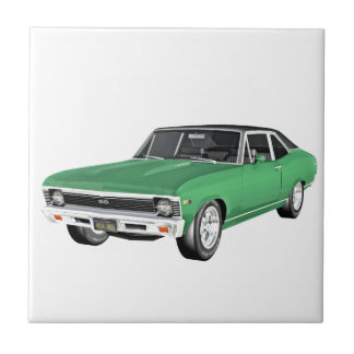 1968 Green Muscle Car Tile