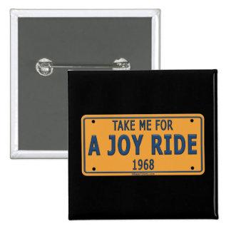 1968 Joy Ride Car Pinback Buttons