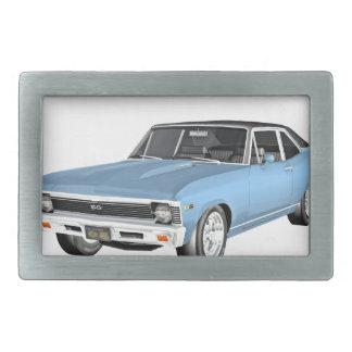 1968 Light Blue Muscle Cars Belt Buckles