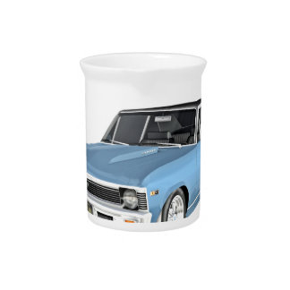 1968 Light Blue Muscle Cars Beverage Pitcher