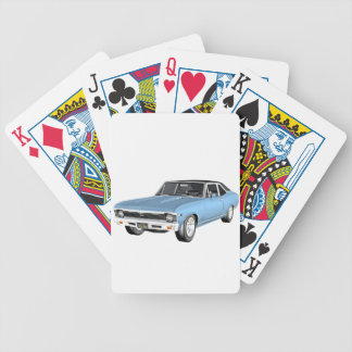 1968 Light Blue Muscle Cars Bicycle Playing Cards