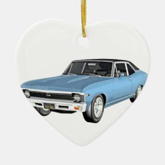 1968 Light Blue Muscle Cars Ceramic Ornament