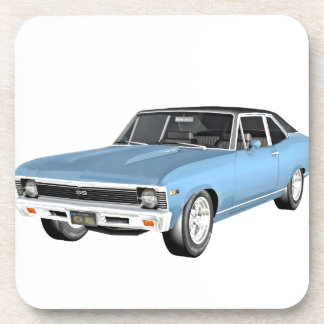 1968 Light Blue Muscle Cars Coaster