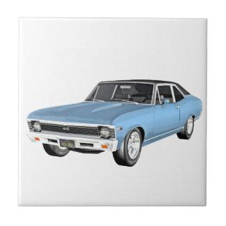 1968 Light Blue Muscle Cars Tile