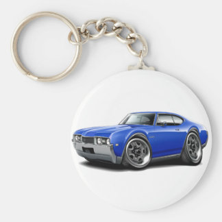 1968 Olds 442 Blue Car Key Ring