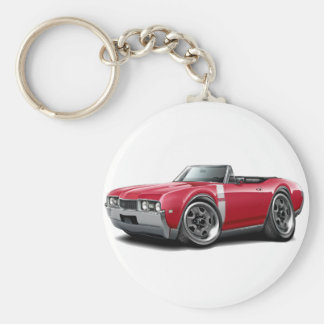 1968 Olds 442 Red-White Convertible Key Ring