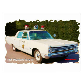 1968 Plymouth Fury III Postcard