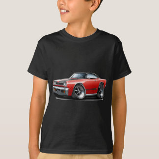 1968 Plymouth GTX Red-Black Hood Car T-Shirt