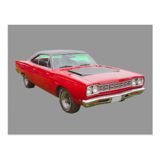 1968 Plymouth Roadrunner Muscle Car Postcard