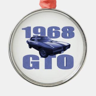 1968 Pontiac GTO Blue Metal Ornament