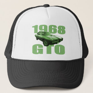 1968 Pontiac GTO Muscle Car Green Trucker Hat