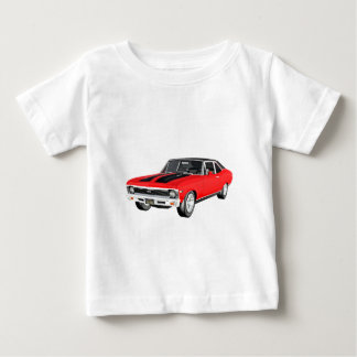 1968 Red Muscle Car Baby T-Shirt