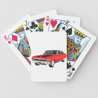 1968 Red Muscle Car Bicycle Playing Cards